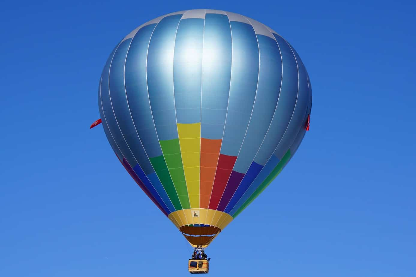 Hot Air Balloon on a blue sky background
