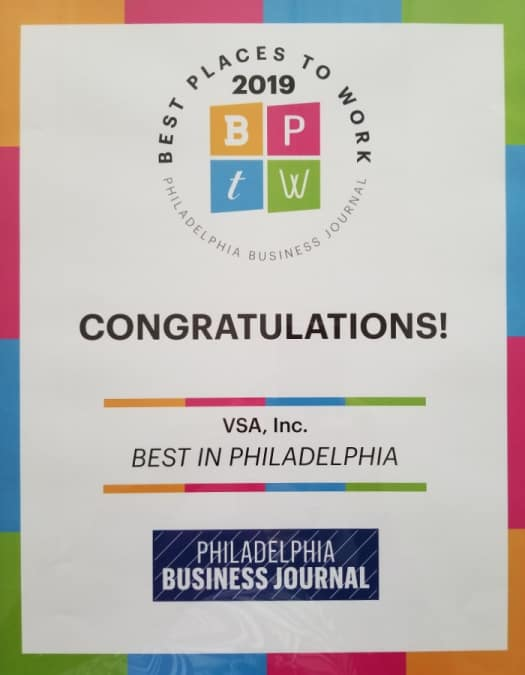 Best Places to Work award for VSA