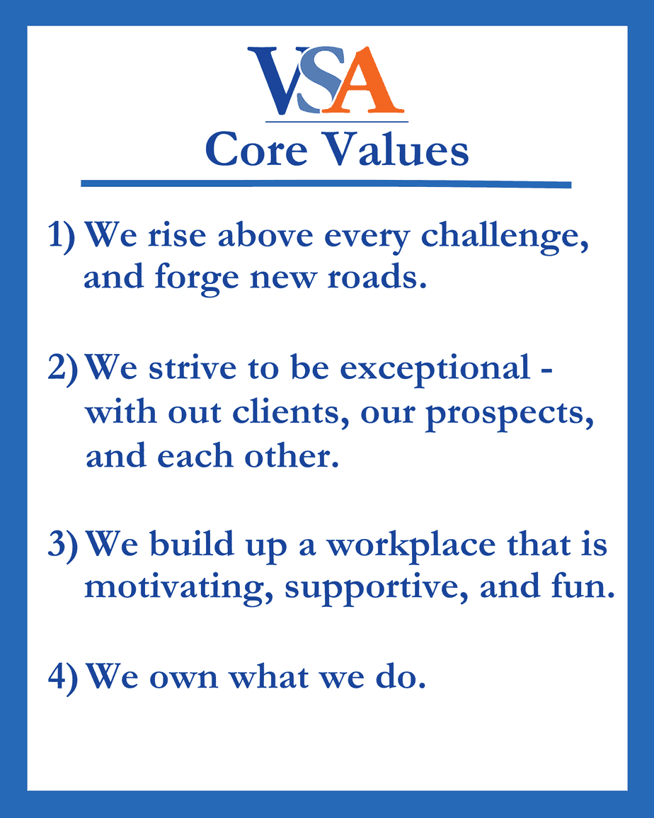 VSA Prospecting Core Values