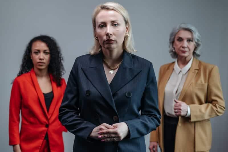 Three imposing businesswomen